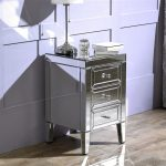Mirrored Bedside Cabinet- Valencia 3 Drawer Cabinet