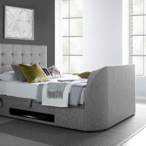 Barnard TV Ottoman Bed , Artemis Light Grey