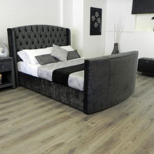 elizabeth tv bed in black