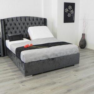 Elizabeth Adjustable Bed In Black Fabric