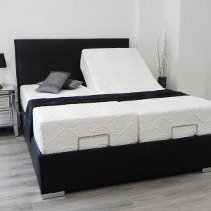 Kensington adjustable bed in black