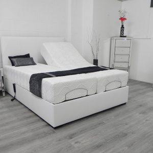 Kensington adjustable bed in white