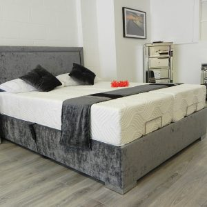 Madrid Adjustable Bed In Grey Fabric